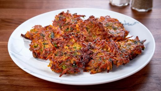 Herbed sweet potato pancakes