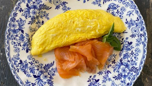 Smoked salmon omelette