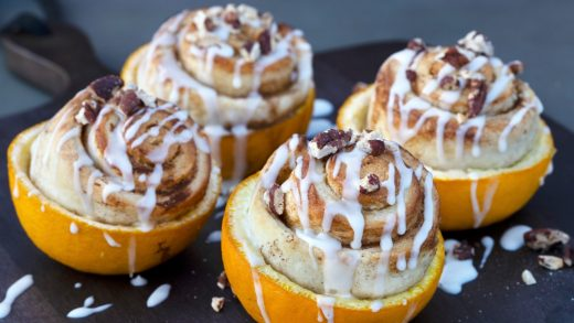 Orange peel cinnamon buns