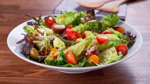 Salad with mustard maple vinaigrette