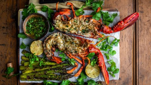 St. Croix grilled lobsters