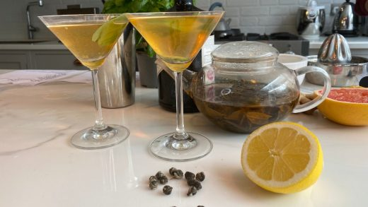 Mommy's green tea martini