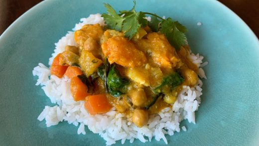 Thai-inspired vegetable curry