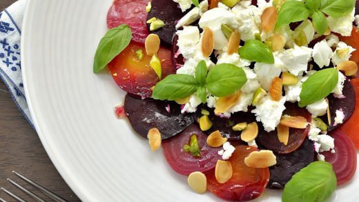 Beet salad with lavender dressing