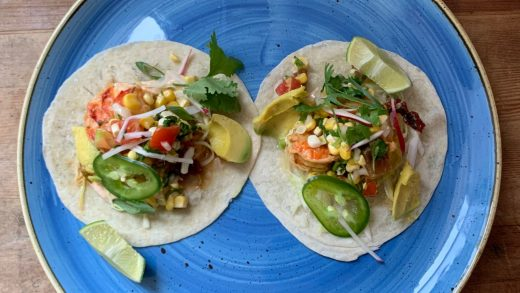Lobster and shrimp tacos